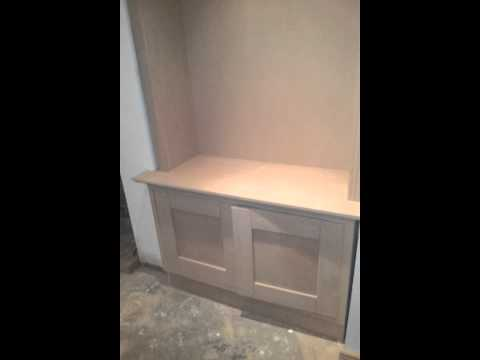 Alcove Cabinets made out of MDF