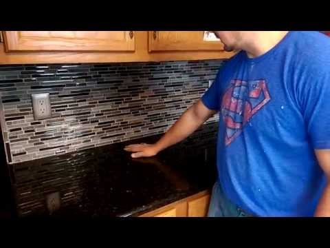 Glass tile back splash installation