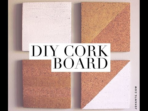 DIY Cork Board - Room Decor