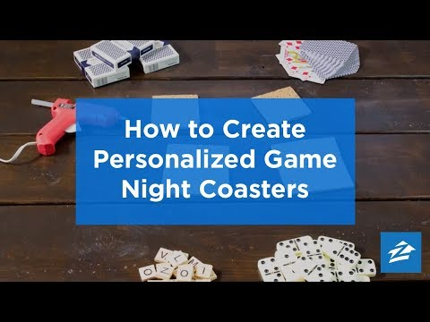 Liven Up Game Night With Fun DIY Coasters