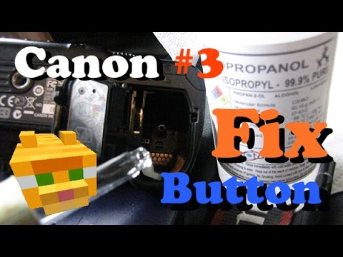Canon shutter shooting button FIXED | 30D 40D 50D