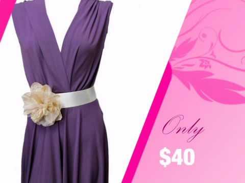 Satin Ribbon Wedding Dress Sash with Linen Flower - AdvantageBridal.com
