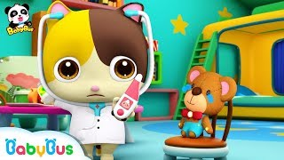 Baby Kitten Pretend Play with Doctor Toys | Doctor Song | Panda Cartoon | Kids Song | BabyBus