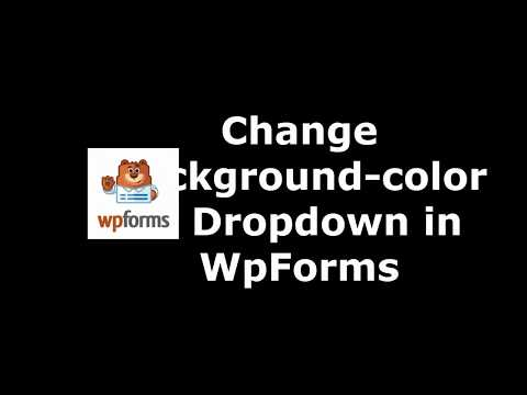 Free Method  to Change Drop Down Background Color in WpForms