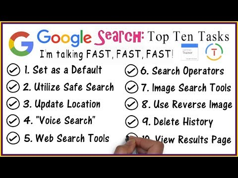 Google Search 2018: Top 10 Tasks (Google Educator)