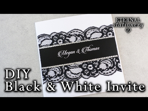 How to make an easy black and white invitation | DIY Wedding Invitation | White Ink hack