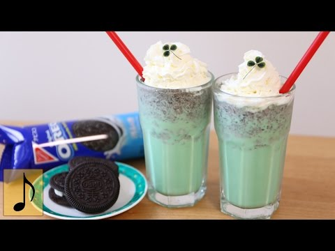 OREO Mint Shake Recipe for St. Patrick's Day【1 Minute Cooking】