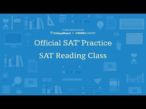 Khan Academy Live: SAT Reading Class