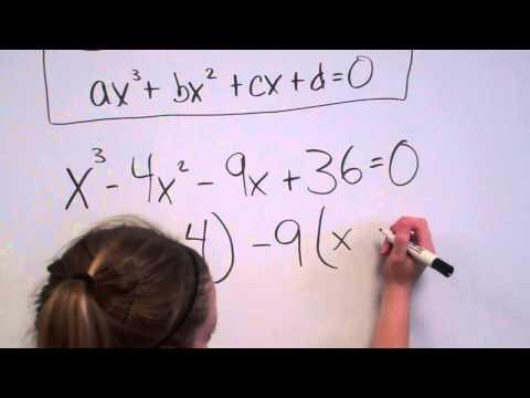 Solving Cubic Equations (factoring)