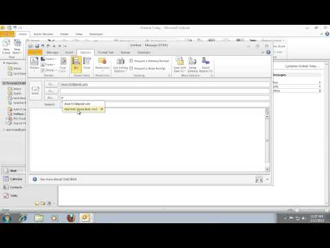 How to Send Bcc in Outlook 2010