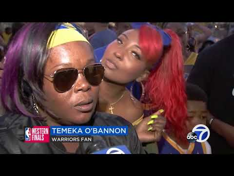 Warriors fans pack Oracle Arena for Game 7 watch party