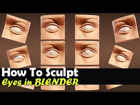 How To Sculpt The Eyes In Blender - Tutorial
