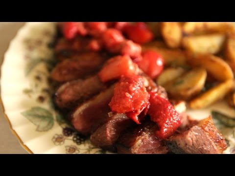Duck Breast with Three Red Fruits