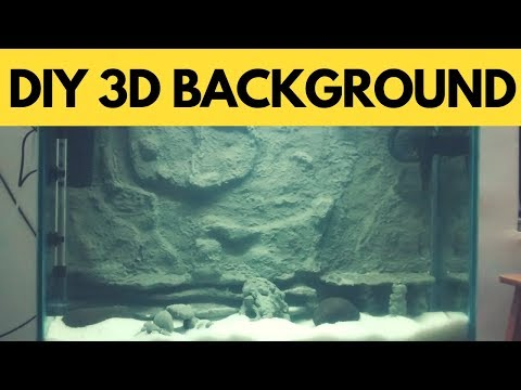 How To Make 3D Background For Aquarium | DIY|  The Indian Fishkeeper