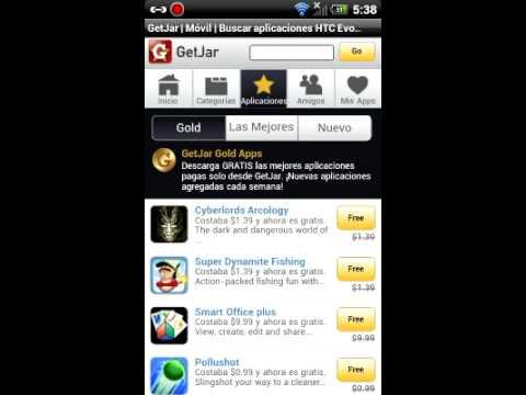 100 aplicaciones prremium de androides, gratis en GetJar.