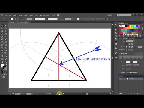 How to Find a Centroid of a Triangle in Adobe Illustrator