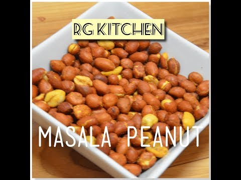 MASALA PEANUT - Crunchy and roasted peanuts in 3 mins using microwave oven @ RG Kitchen