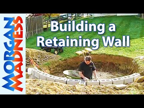 Building a Retaining Wall for the Trampoline