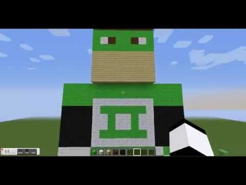 Minecraft: DC super hero Green Lantern statue preview!