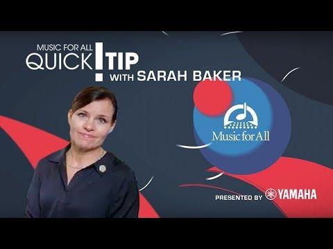 Quick Tip with Sarah Baker
