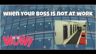 When your boss is not at work epic fail ★ 7 second of happiness FUNNY Video 