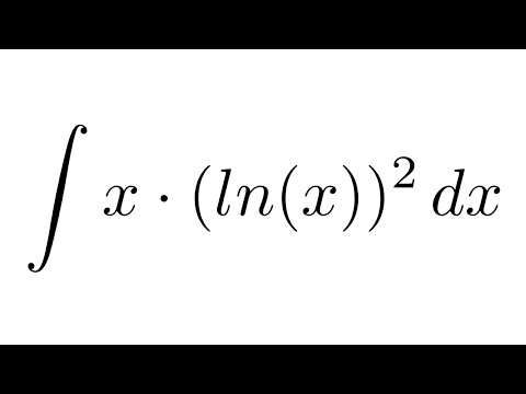 Integral of x(ln(x))^2 (by parts + by parts)