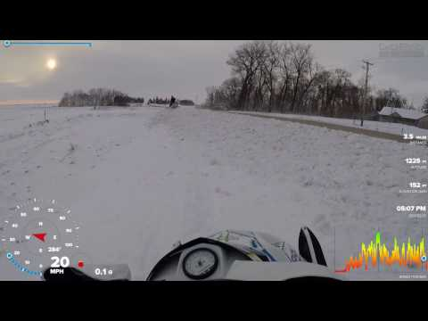 snomobiling from Manly IA on Hwy 9