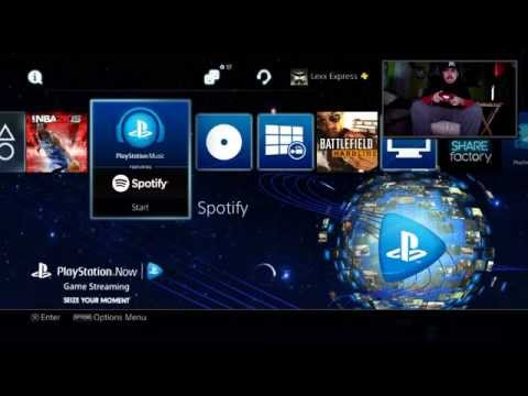 Spotify app on PS4 review - music app on the PS4 - PS4 update