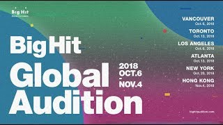 2018 BigHit Global Audition #1