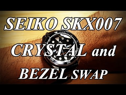 Seiko SKX007 Mods - AR Coated Double Dome Sapphire Crystal, Coin Edge Bezel, New Bezel Insert