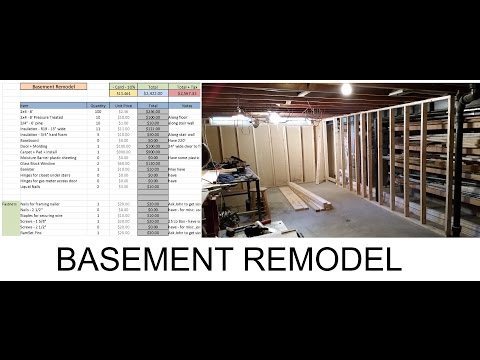 Basement Remodel - Plans and Cost Spreadsheet