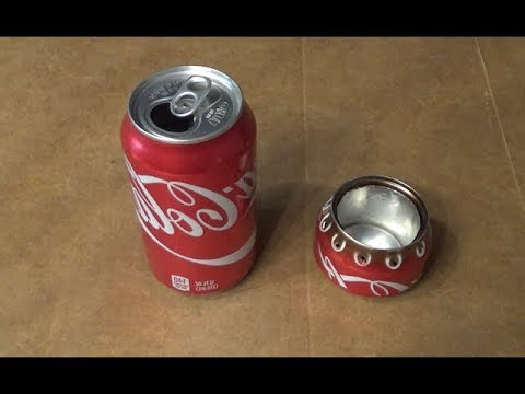 DIY: Home made Alcohol stove from a single aluminum coke can