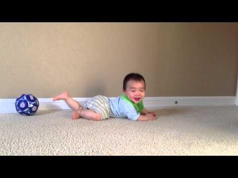 Baby Crawling on Carpet