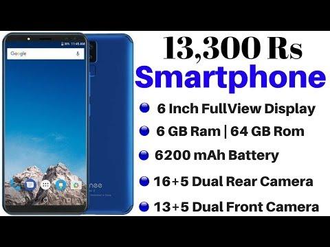 13300 Rs Smartphone - 5.99 Inch FullView Display, 6GB Ram, Dual Front & Rear Camera, 6200mAh Battery