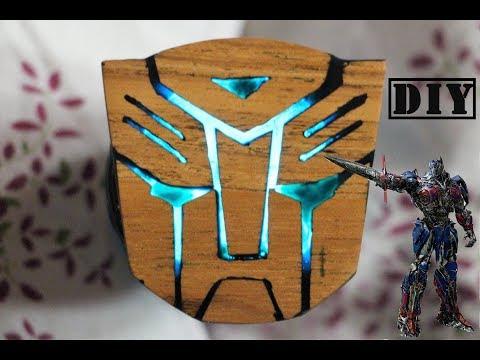 Transformers The Last Knight : Secret Wood Autobots Logo DIY