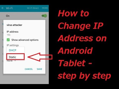 How To Set Static IP Address In Android IOS Mobile Device 2017