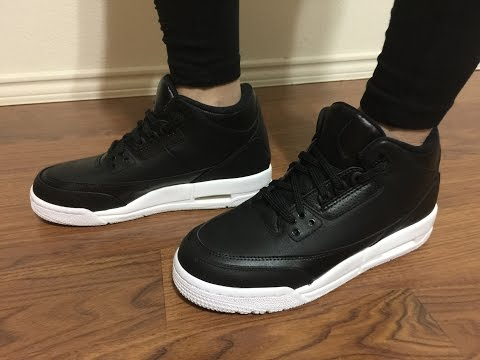 Wife's Jordan Retro 3 Black Cyber Monday unbox and on feet review ⚫️⚪️
