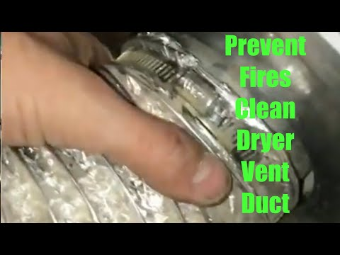 DIY How to Remove and Clean Clothes Dryer Vent Ducting for Fire Prevention