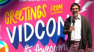 Why is this old man trolling YouTubers at VidCon 2019?