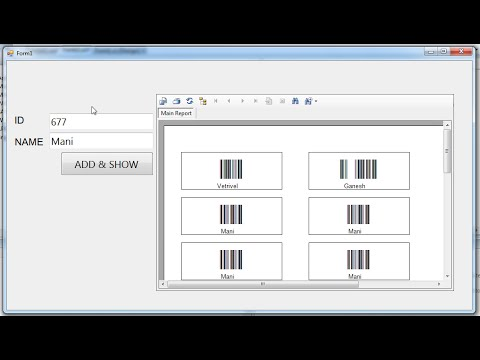 Generate Barcode in Crystal report without database - ( business report software )