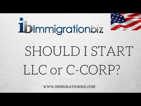 E-2 VISA | SHOULD I START LLC OR C-CORP?
