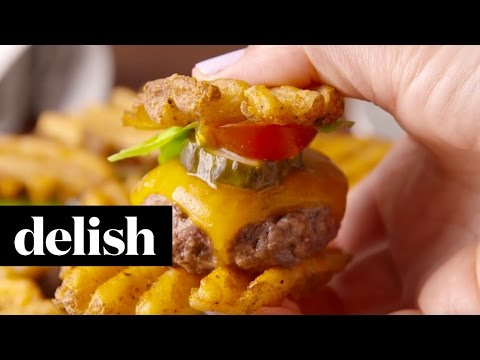 Waffle Fry Sliders | Delish