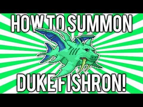 Terraria 1.2.4: How to Summon Duke Fishron! (NEW BOSS!) @demizegg