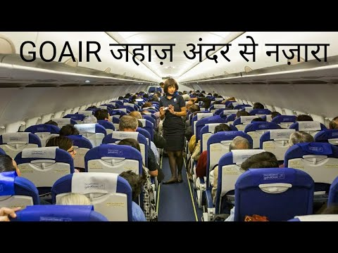 Inner view of GO AIR Airlines @ Domestic airlines of India.