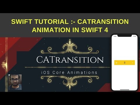 Swift Tutorial :- CATransiton Example in swift 4