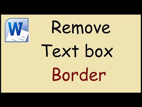 How to remove the outline of a text box in Word
