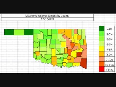 Map: Oklahoma Unemployment November 2013
