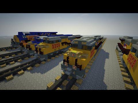 Minecraft Diesel Train GE Evolution Locomotive Tutorial