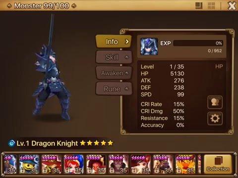 Summoners War: Sky Arena - Water Dragon Knight Runes