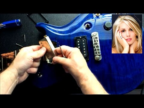 how to remove guitar pickups shown on prs guitar